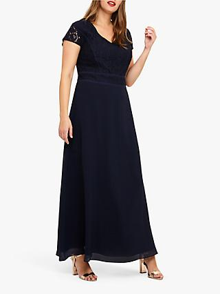 Studio 8 Gemma Lace Maxi Dress, Navy