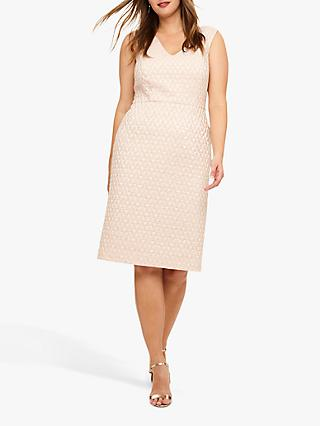 Studio 8 Nieve Jacquard Dress, Champagne