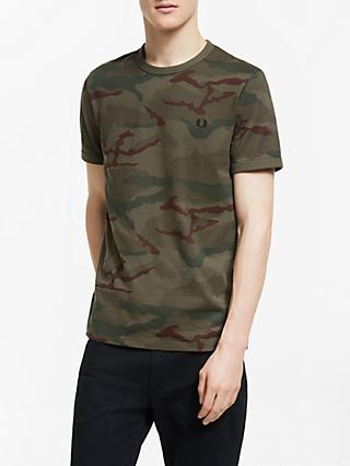 195bc61b993 Fred Perry Short Sleeve Camo T-Shirt