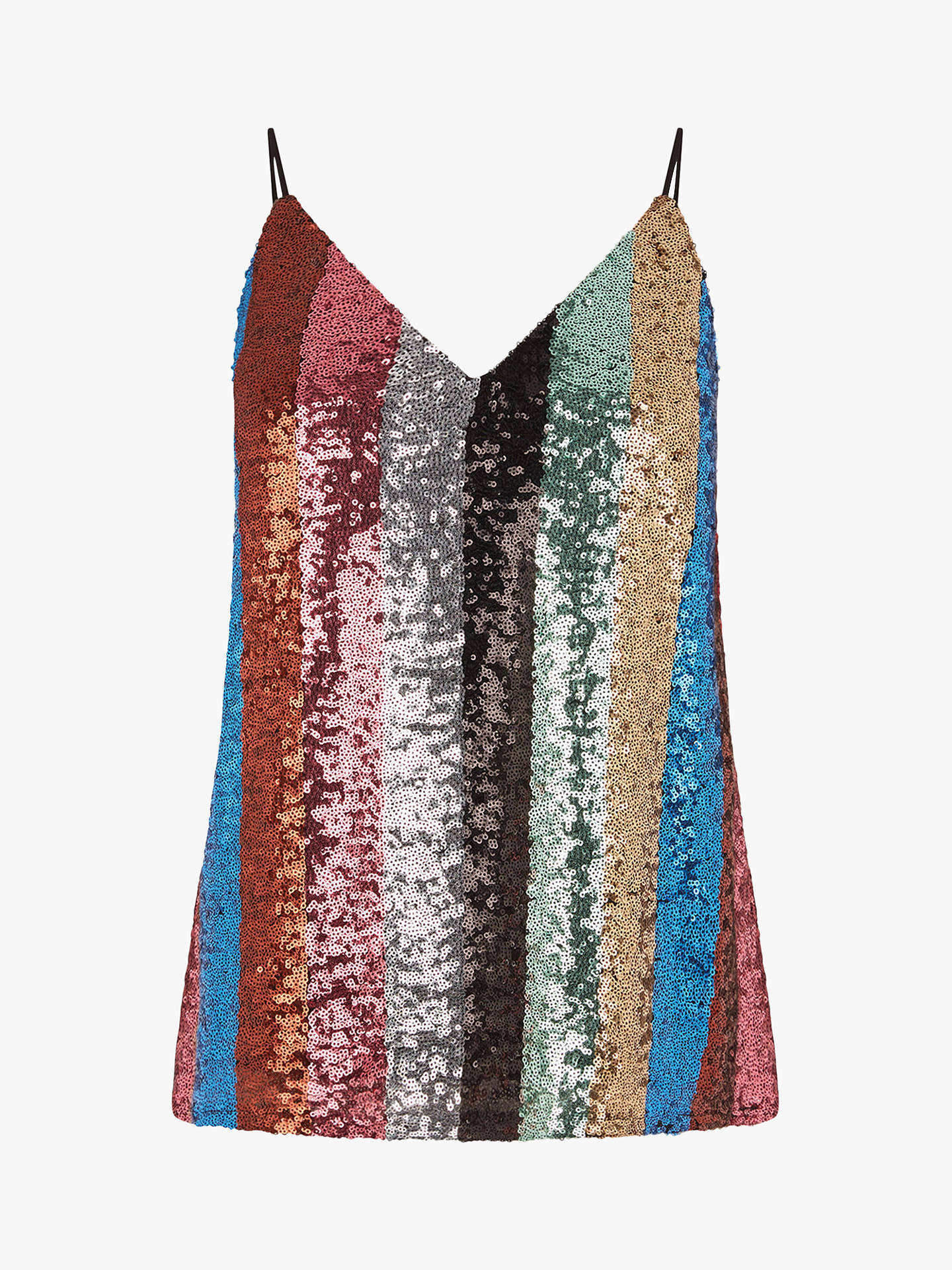 04fbc8a41477b5 ... Buy Warehouse Rainbow Stripe Sequin Cami Top