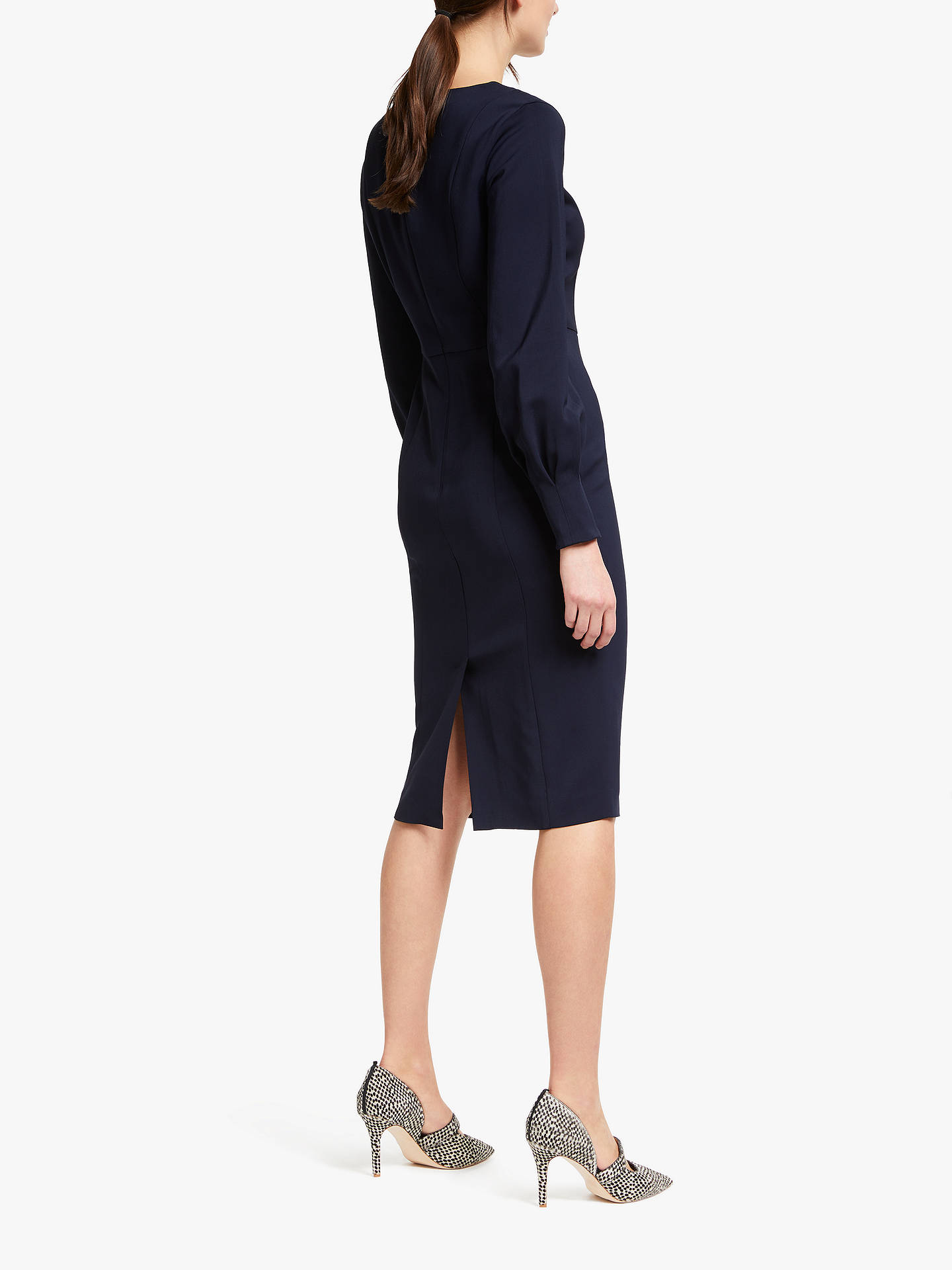 b6da2396509 ... Buy Boden Hannah Dress, Navy, 8 Online at johnlewis.com