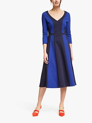 Boden Erin Ponte Midi Dress, Navy