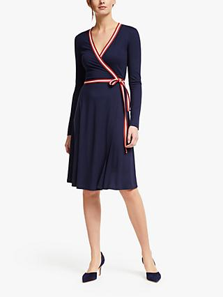 Boden Cara Jersey Wrap Dress, Navy