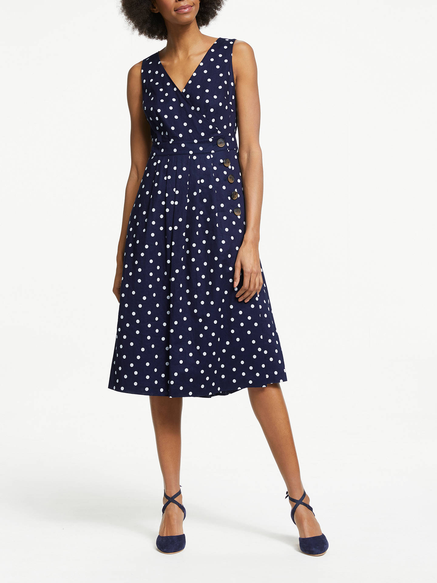 b314de7fcba6 Buy Boden Arwen Midi Dress, Navy, 16 Online at johnlewis.com ...