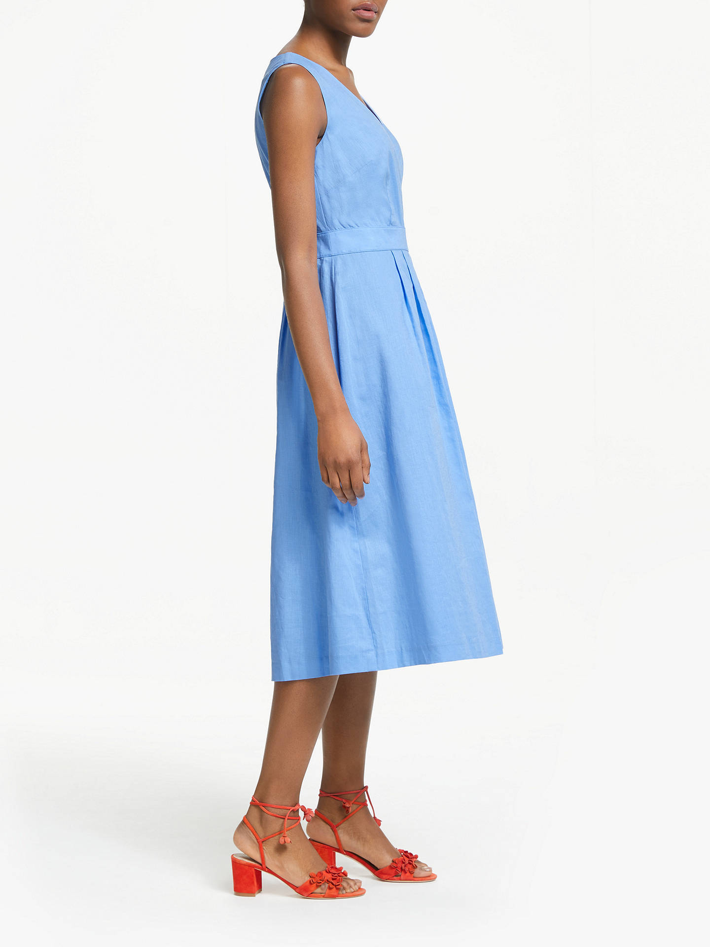 Buy Boden Arwen Midi Dress, Hazy Blue, 14 Online at johnlewis.com