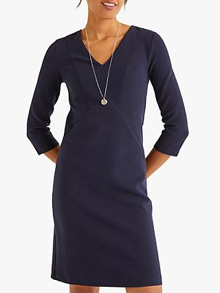 Boden Bronte Ottoman Dress, Navy