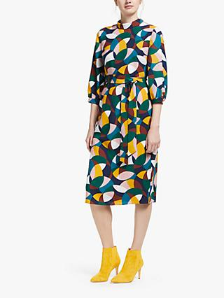 Boden Lottie Midi Dress, Navy/Multi