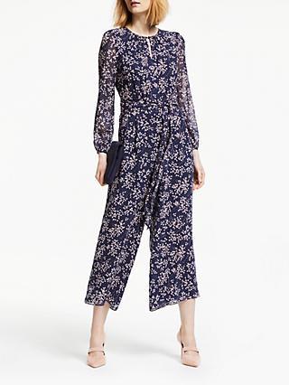 03472fea1405 Boden Hermione Silk Tie Waist Floral Jumpsuit