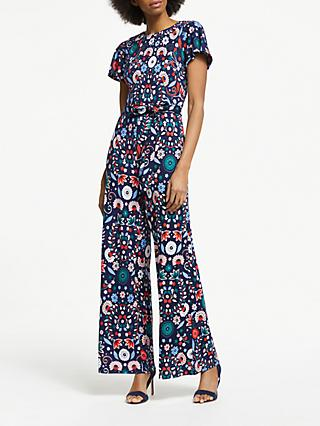 babfe3bb4c16 Boden Camille Print Ponte Jumpsuit
