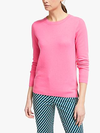 Boden Cashmere Crew Neck Knit Jumper, Garden Rose