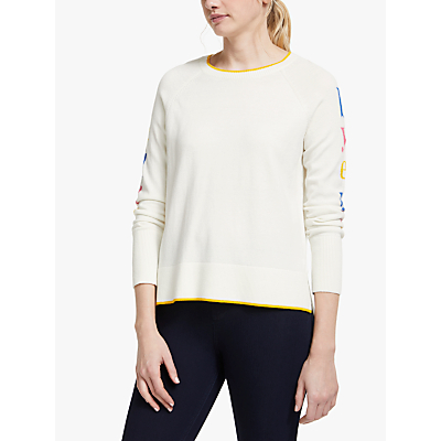 Boden Penny Hello Jumper, Ivory