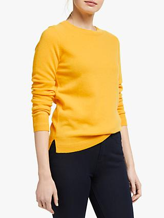 Boden Cashmere Crew Neck Jumper, Happy