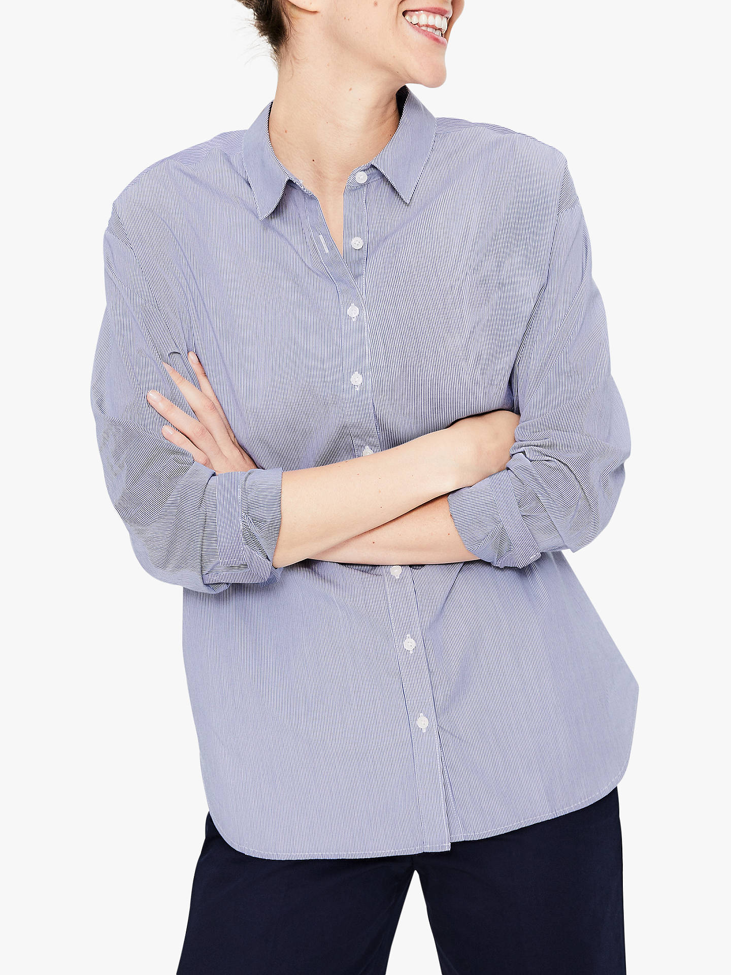 a1ac469c0a Buy Boden Maria Relaxed Stripe Shirt, Blue, 10 Online at johnlewis.com ...