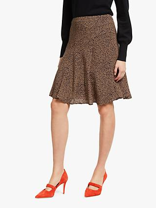 Boden Virginia Spot Print Skirt, Black/Truffle
