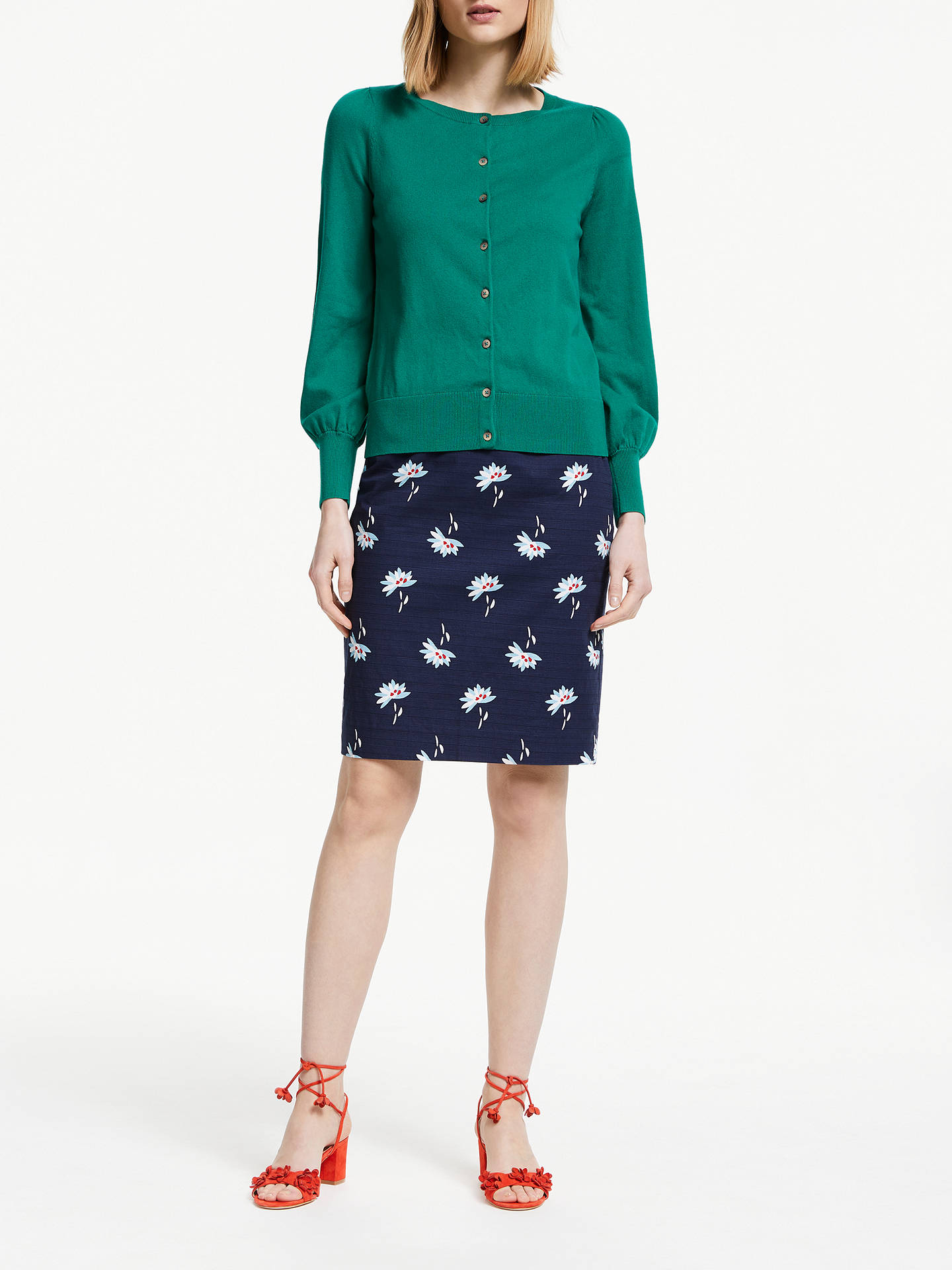 a33f9f1df Buy Boden Modern Pencil Skirt, Navy/Heron Blue, 18 Online at johnlewis.