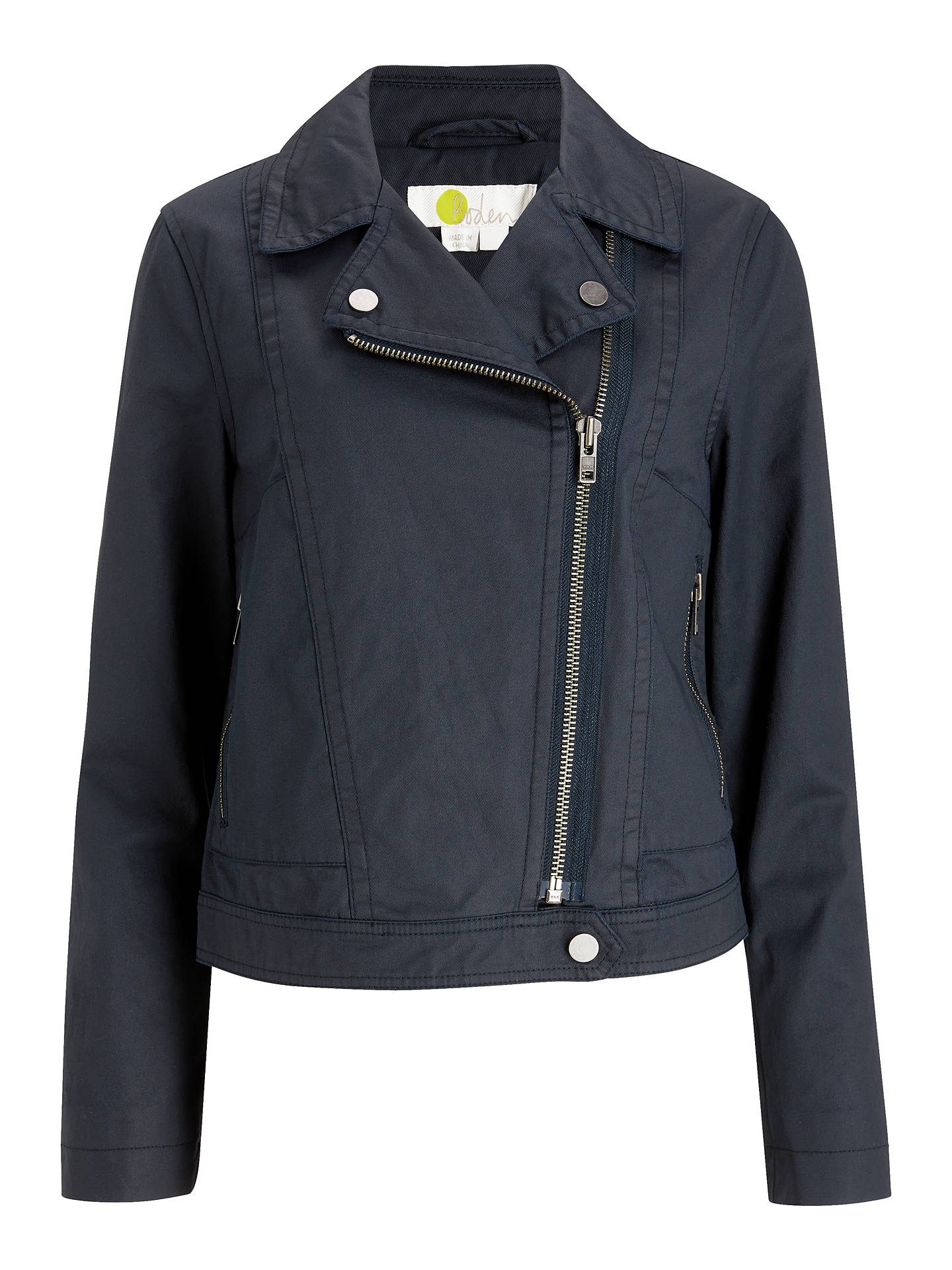 0b41090ec Boden Wren Biker Jacket, Navy at John Lewis & Partners