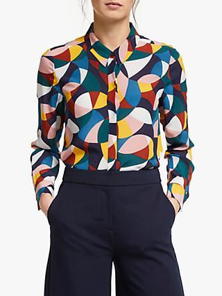 dfb165706de6 Boden Geometric Print Silk Shirt