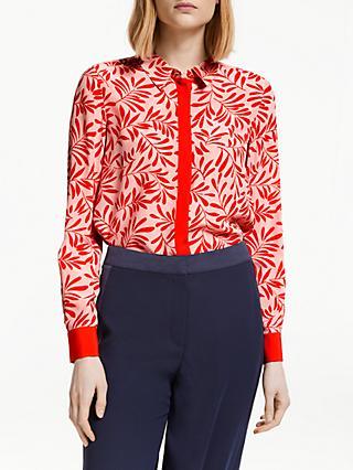 af4a1a61b4088 Boden Leaf Print Silk Shirt