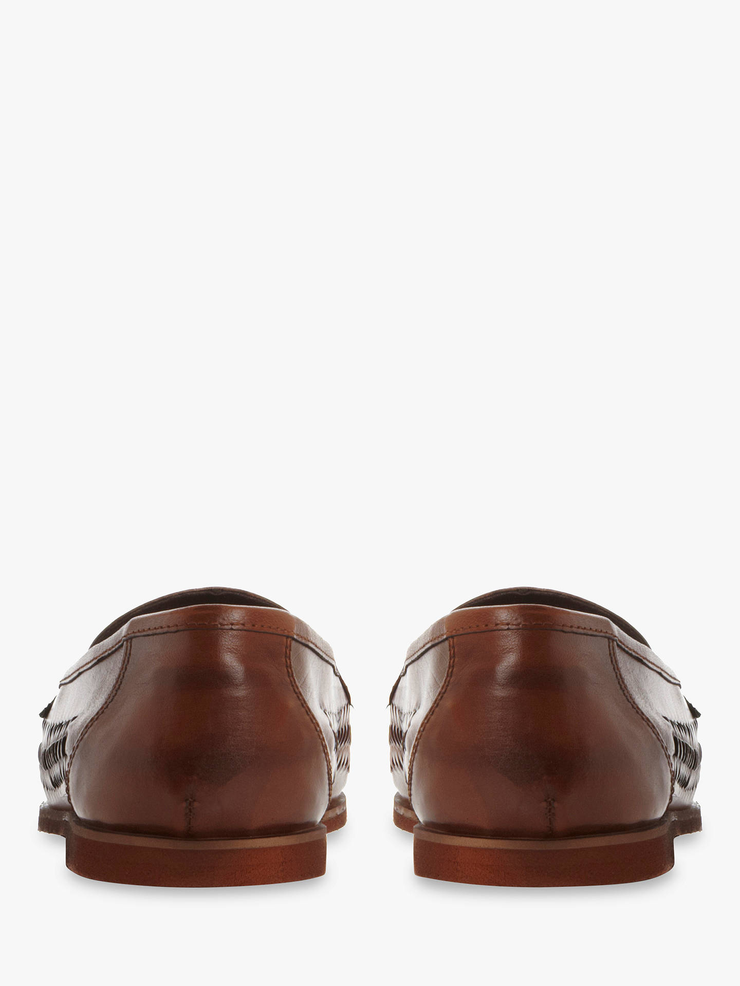 f8ea03a4e78030 ... Buy Dune Brighton Rock Woven Leather Loafers, Tan, 6 Online at  johnlewis.com ...
