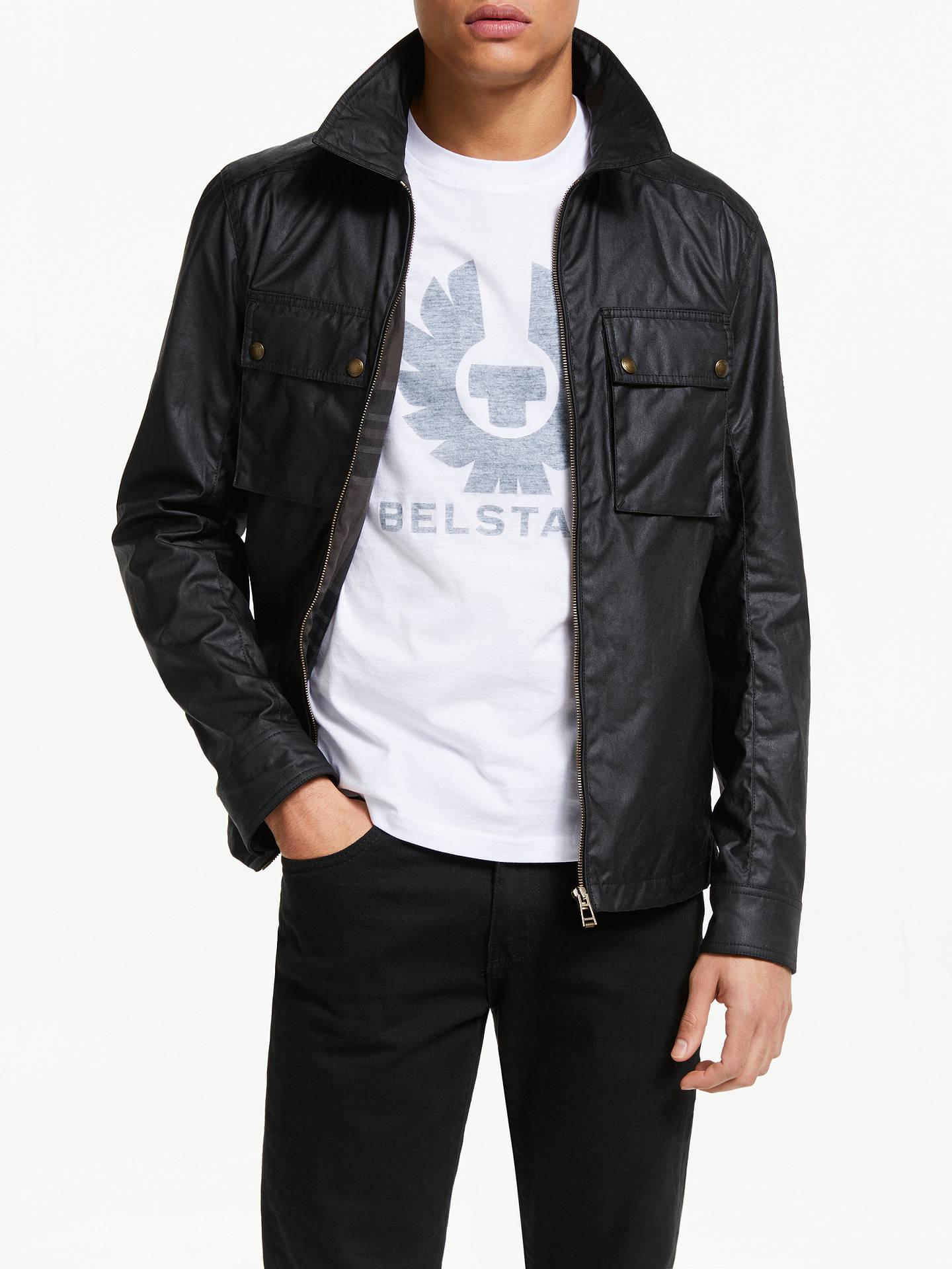 967c23f0dd1 Buy Belstaff Dunstall Jacket, Black, XL Online at johnlewis.com ...