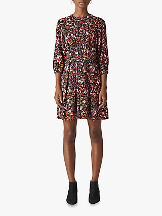 Whistles Floral Meadow Dress, Pink/Multi