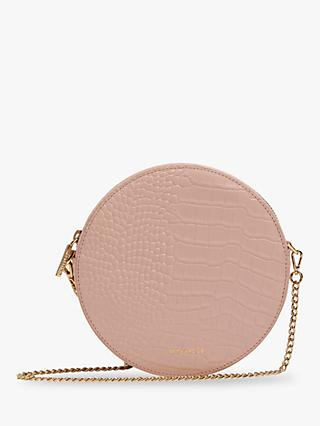 Whistles Brixton Circular Croc Embossed Clutch Bag