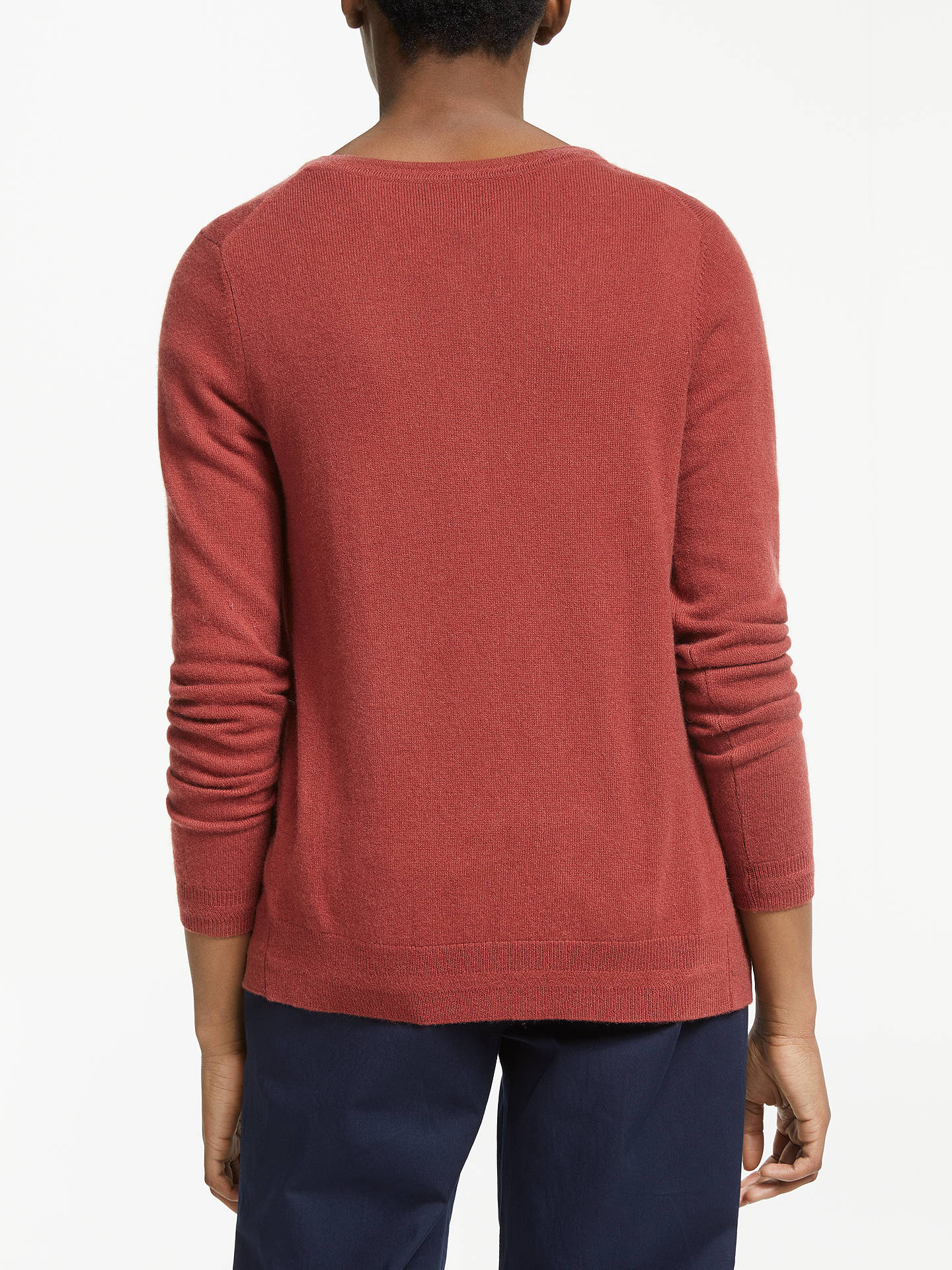 BuyBoden Cashmere Crew Neck Cardigan, Conker, XS Online at johnlewis.com