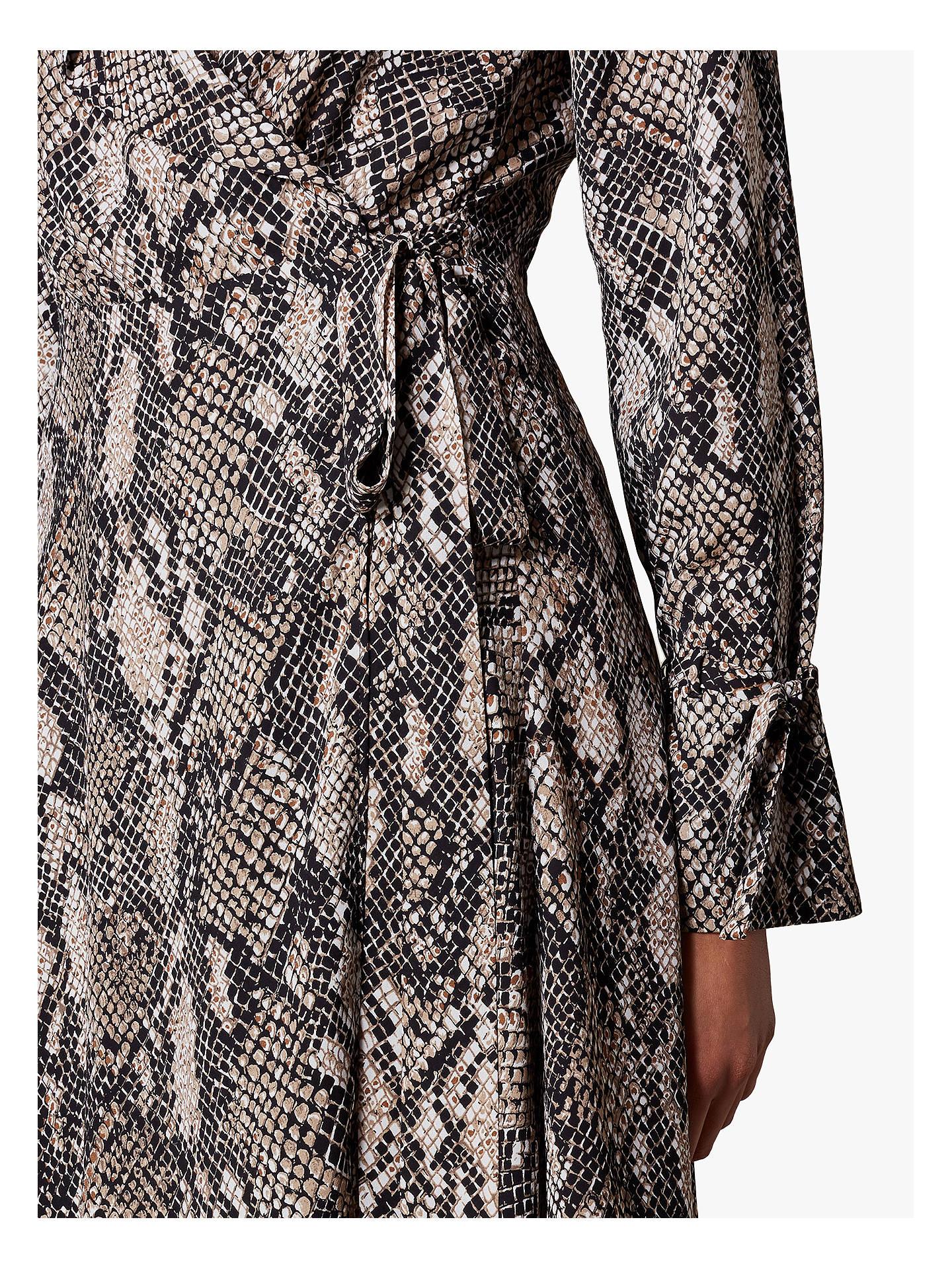 404bd1ecc2e8 ... Buy Karen Millen Snakeskin Print Maxi Dress, Multi, 6 Online at  johnlewis.com