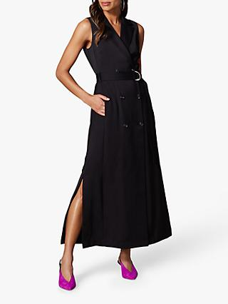 Karen Millen Tuxedo Maxi Dress, Black