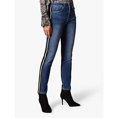 Karen Millen Side Stripe Jeans, Denim