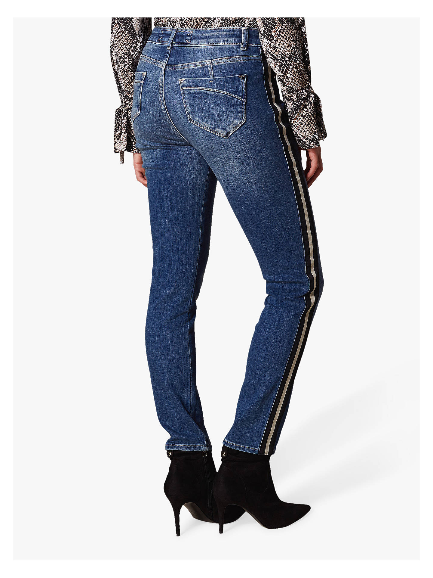 Buy Karen Millen Side Stripe Jeans, Denim, 6 Online at johnlewis.com