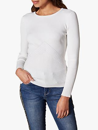 Karen Millen Fitted Ribbed Jumper