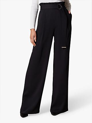 Karen Millen Wide-Leg Tailored Trousers, Black