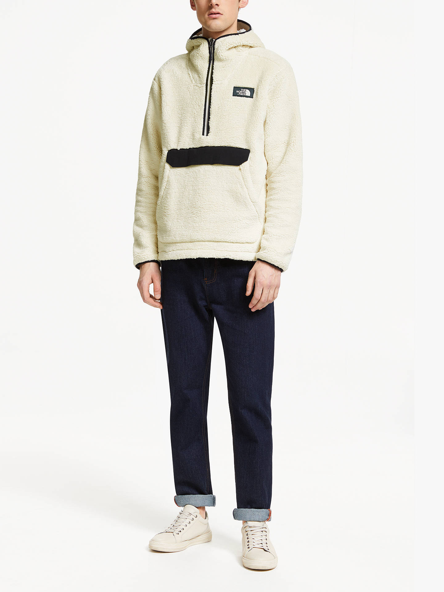 703779f2d The North Face Campshire Pullover Hoodie, Vintage White/TNF Black at ...