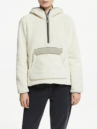 The North Face Campshire Pullover Hoodie, Vintage White/Slit Grey