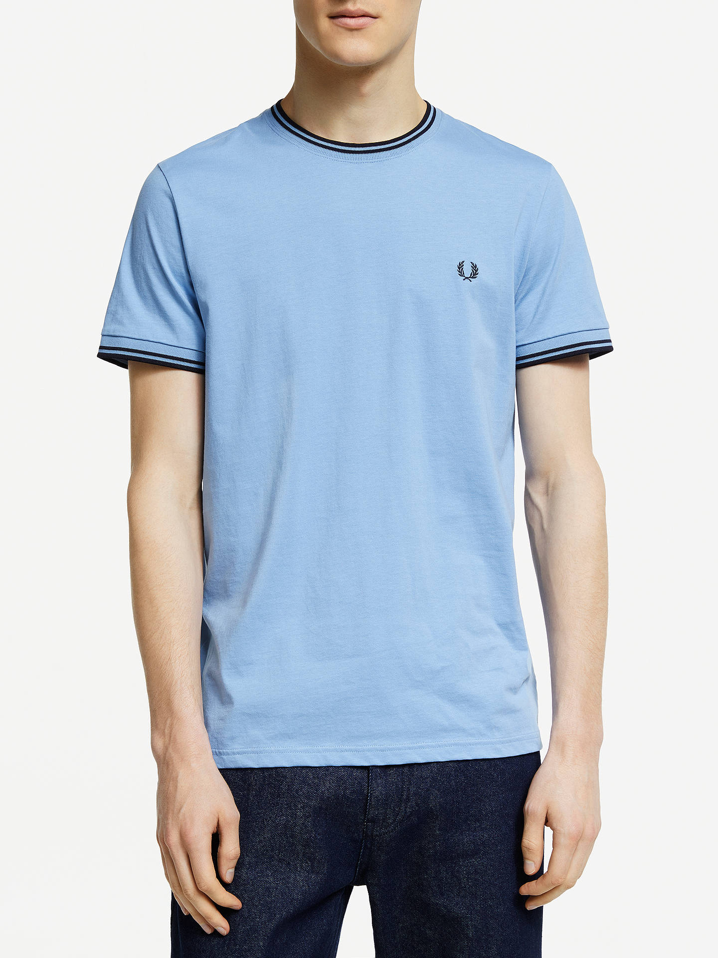 623284d3dc22 Buy Fred Perry Twin Tipped T-Shirt, Sky Blue, M Online at johnlewis ...