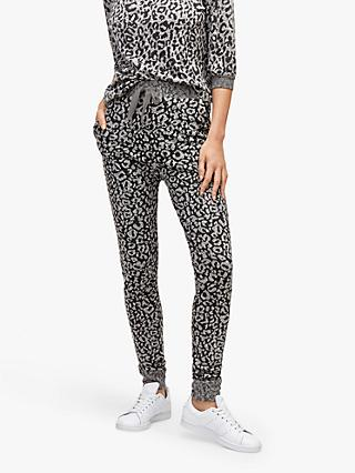 Warehouse Leopard Cosy Joggers, Multi
