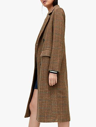 Warehouse Full Length Check Coat, Multi