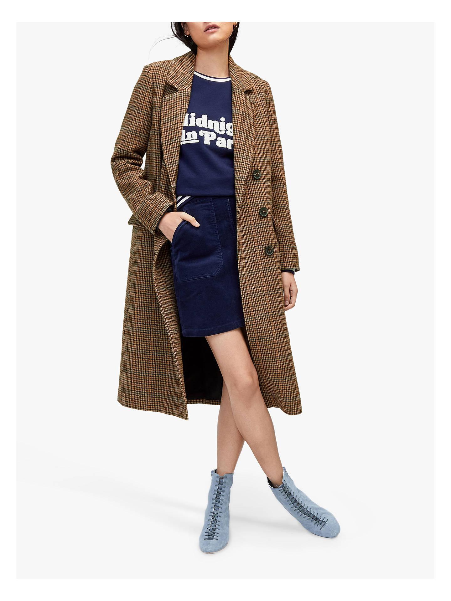 Warehouse Full Length Check Coat, Multi