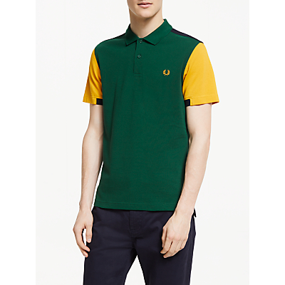 Fred Perry Bold Cuff Insert Pique Polo Shirt, Ivy