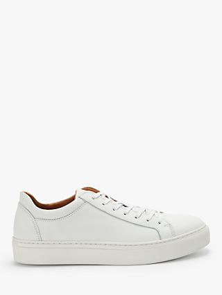 Selected Femme Donna Leather Trainers, White