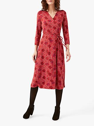 White Stuff Mandina Jersey Wrap Dress, Red