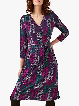 White Stuff Azalea Jersey Wrap Dress, Multi