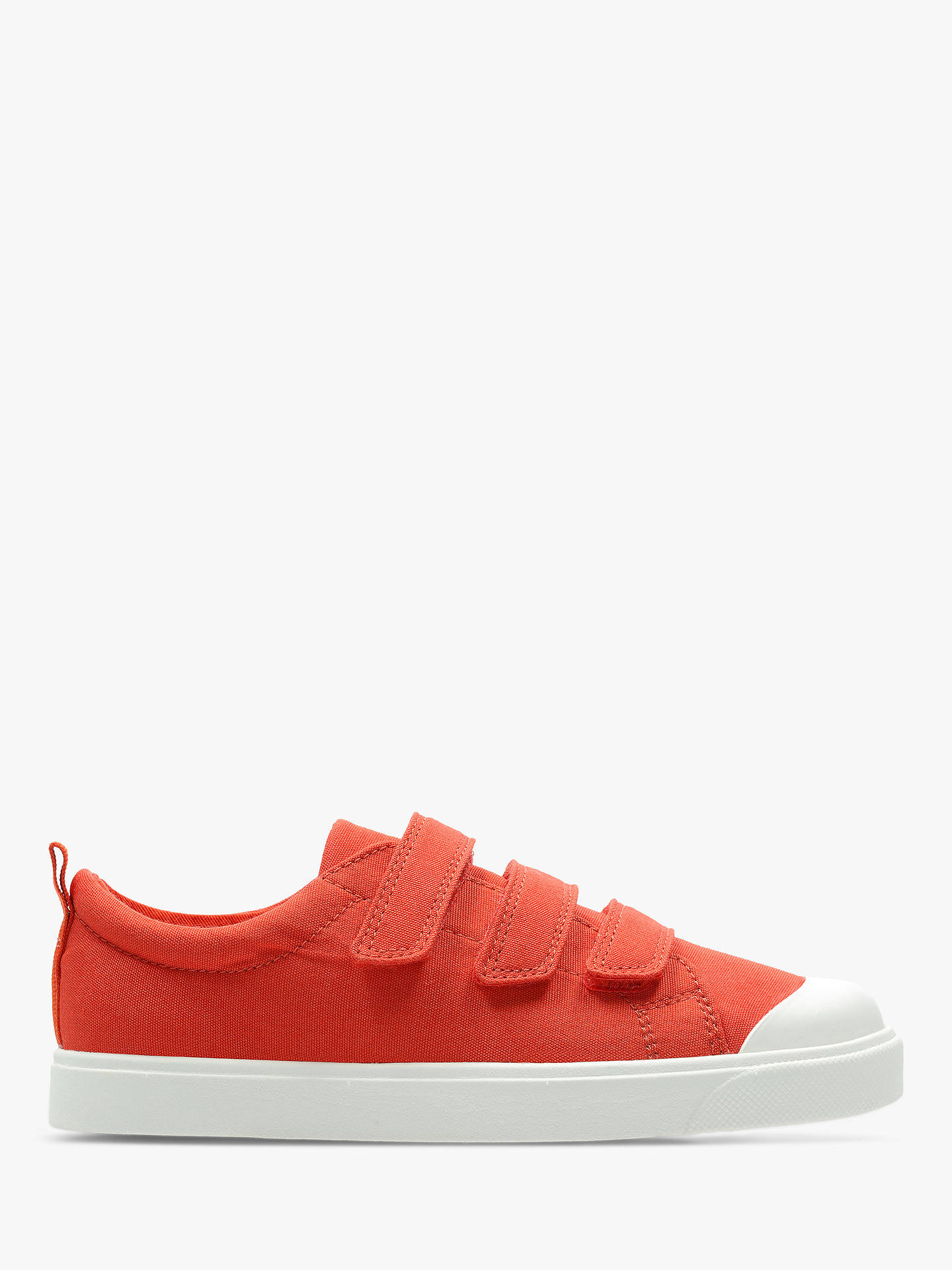 9cb1e492fab5d9 Buy Clarks Children s City Flare Low Top Canvas Riptape Shoes
