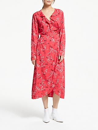 ARMEDANGELS DiIaan Spring Wrap Dress, Tomato Red
