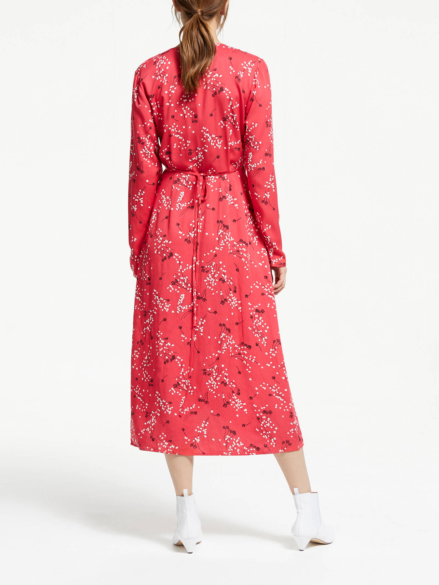 Buy ARMEDANGELS DiIaan Spring Wrap Dress, Tomato Red, XL Online at johnlewis.com