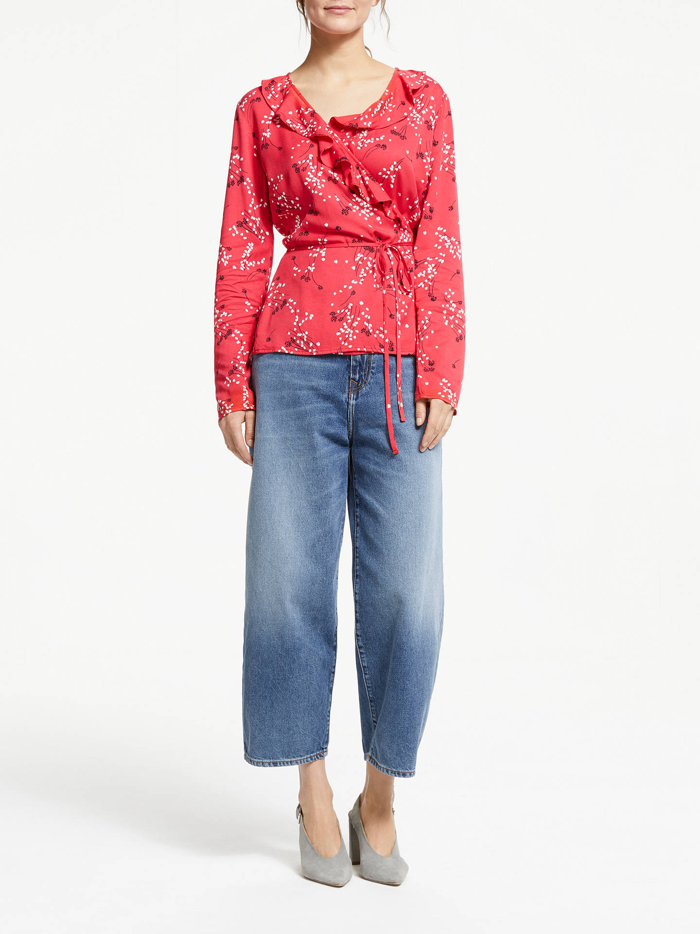 Buy ARMEDANGELS Lisaanne Spring Wrap Top, Tomato Red, XL Online at johnlewis.com