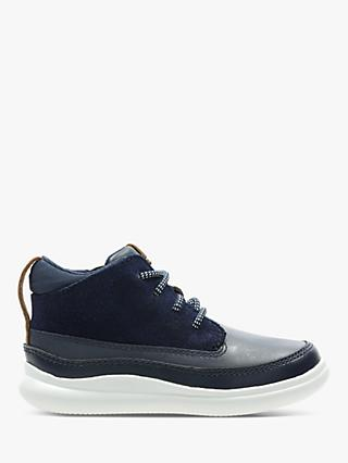 Clarks Junior Cloud Air Shoes, Navy