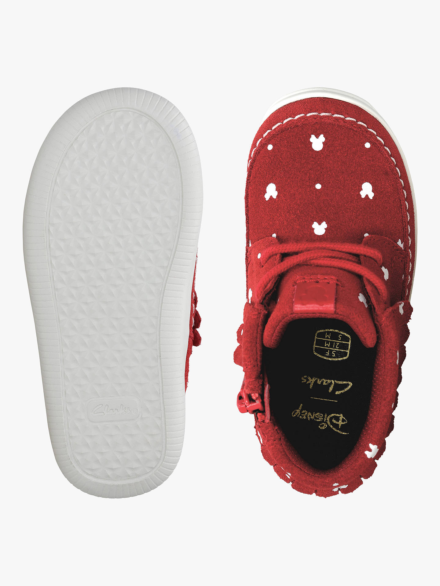 03fe1d5a31 ... Buy Clarks Children's Cloud Polka Disney Minnie Mouse Shoes, Red/White,  8.5G