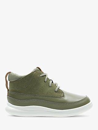 Clarks Junior Cloud Air Shoes, Khaki